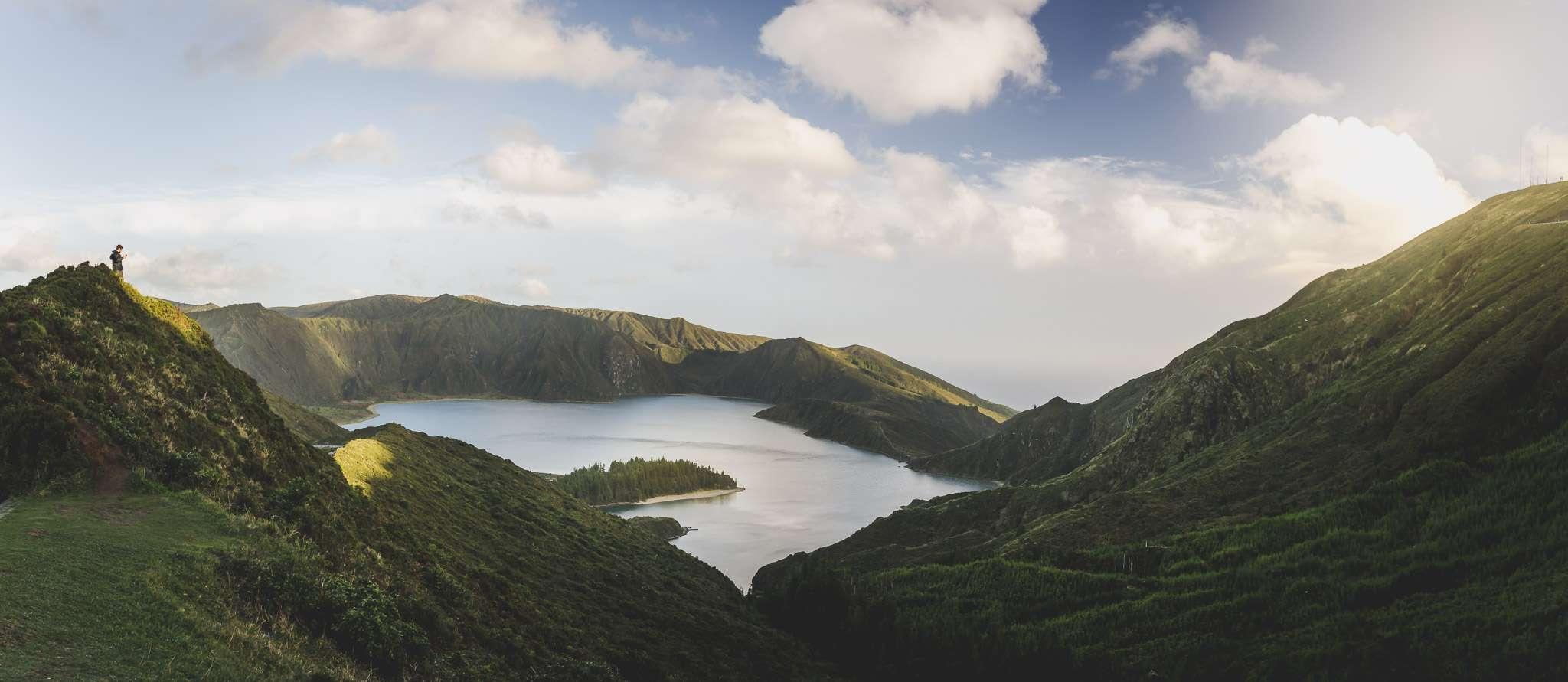 Der Lagoa do Fogo auf Sao Miguel, der Hauptinsel der Azoren.
