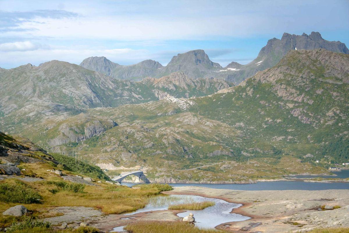 Blick auf die Kåkernbrua - auf dem Weg zum See des großen Bären