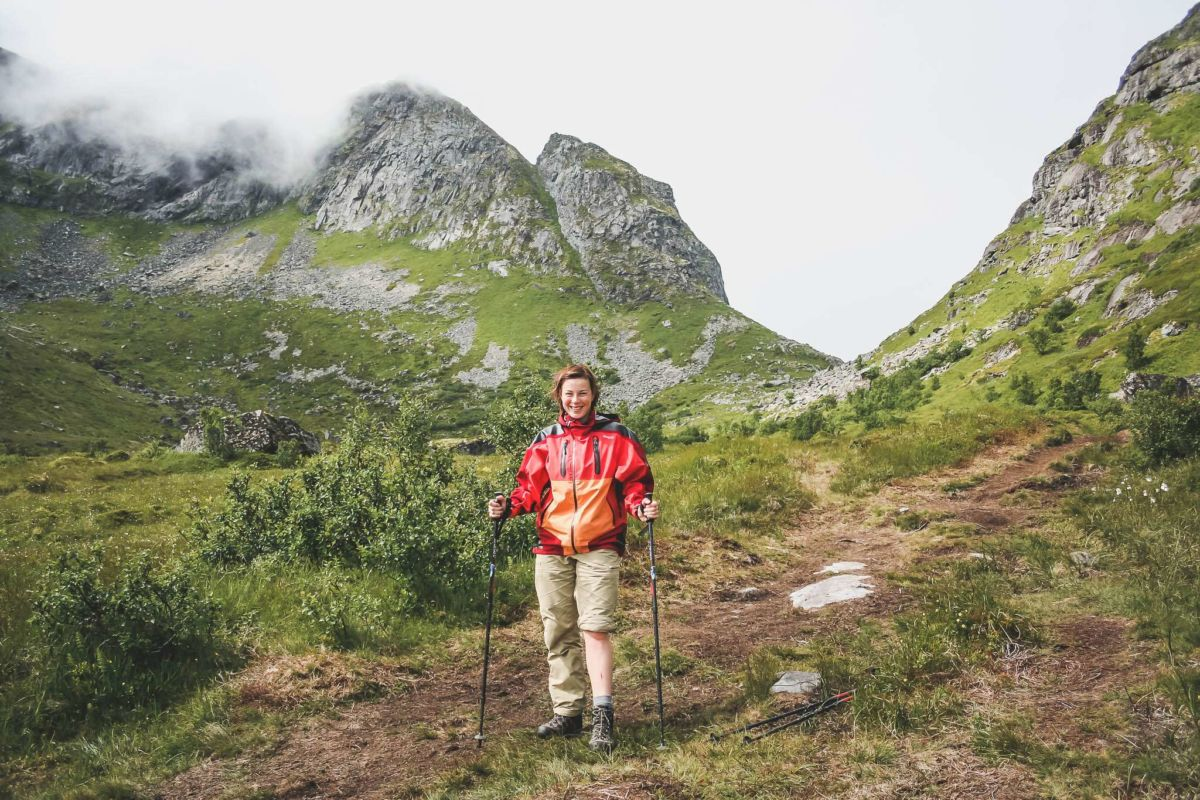 Wanderung zur Meeresbucht Kvalvika