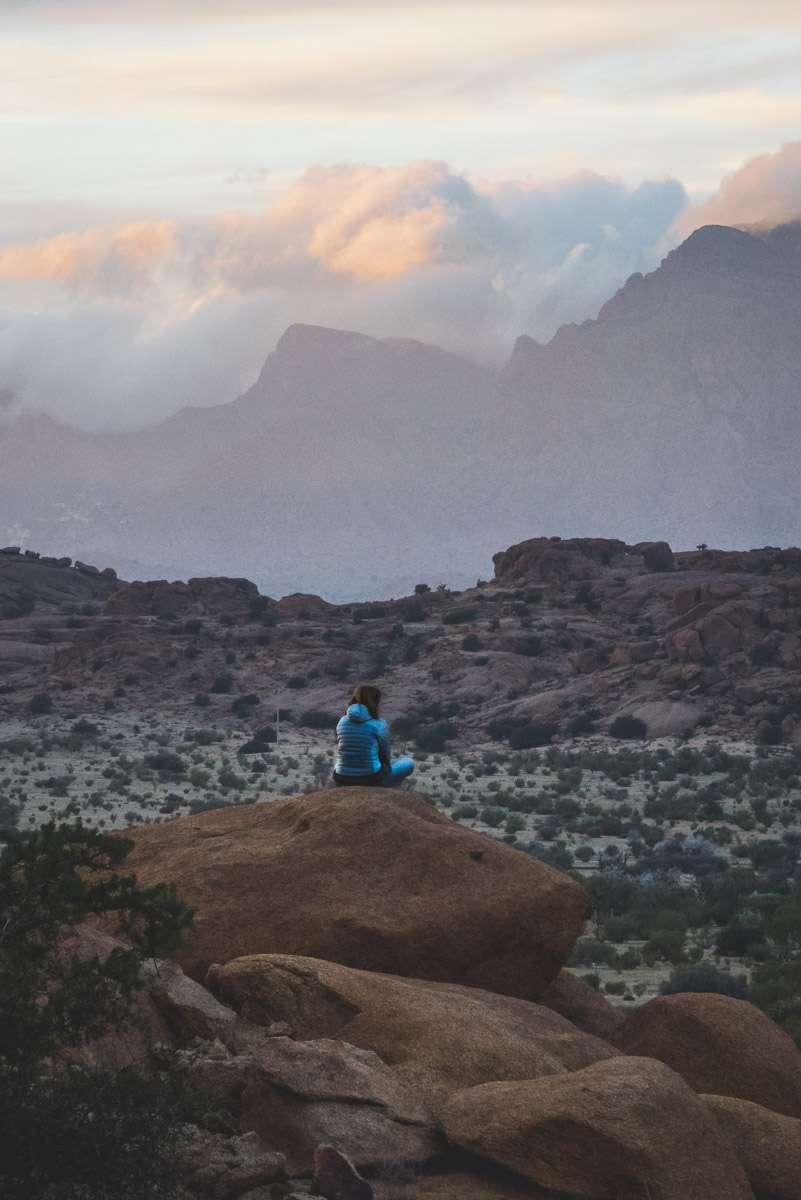 Sonnenuntergang bei den Blauen Steinen