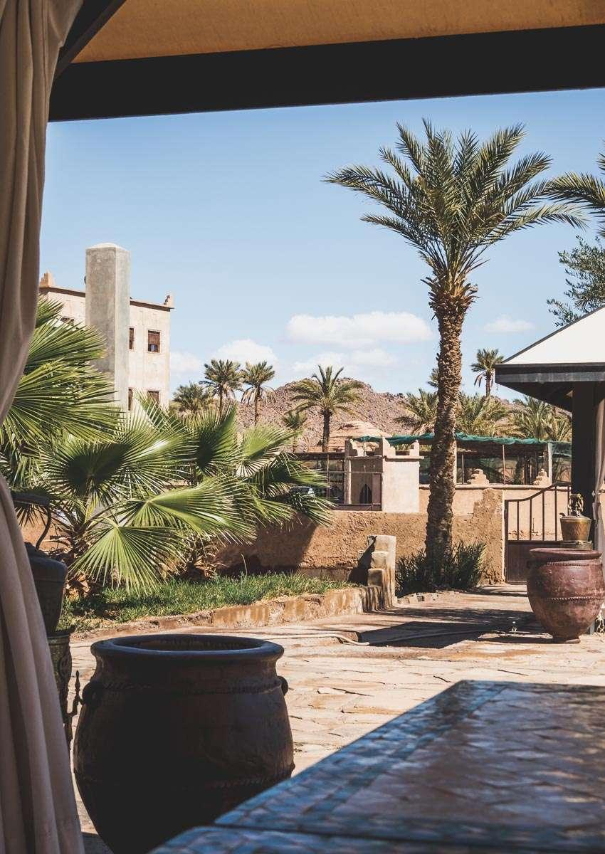 Unser erstes Hotel - das Bab Rimal in Foum Zguid