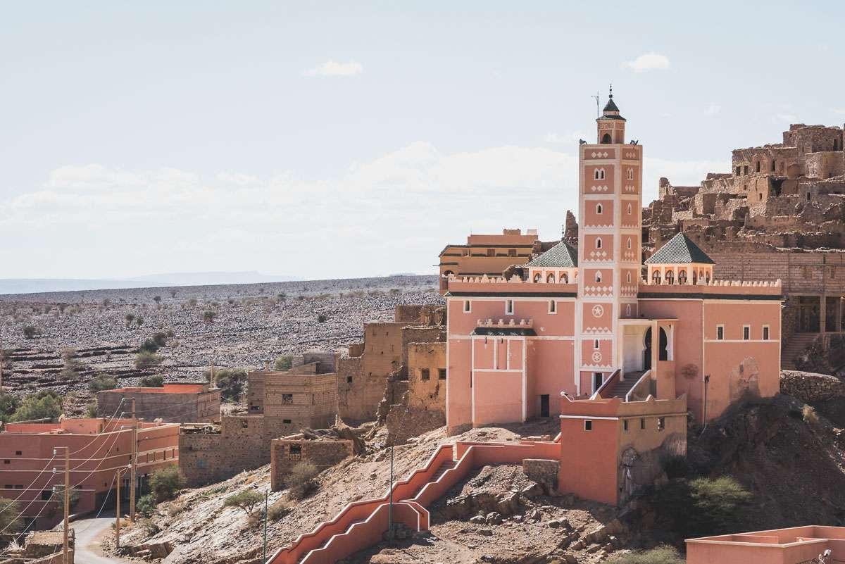 Hübsche Moschee in Foum Zguid