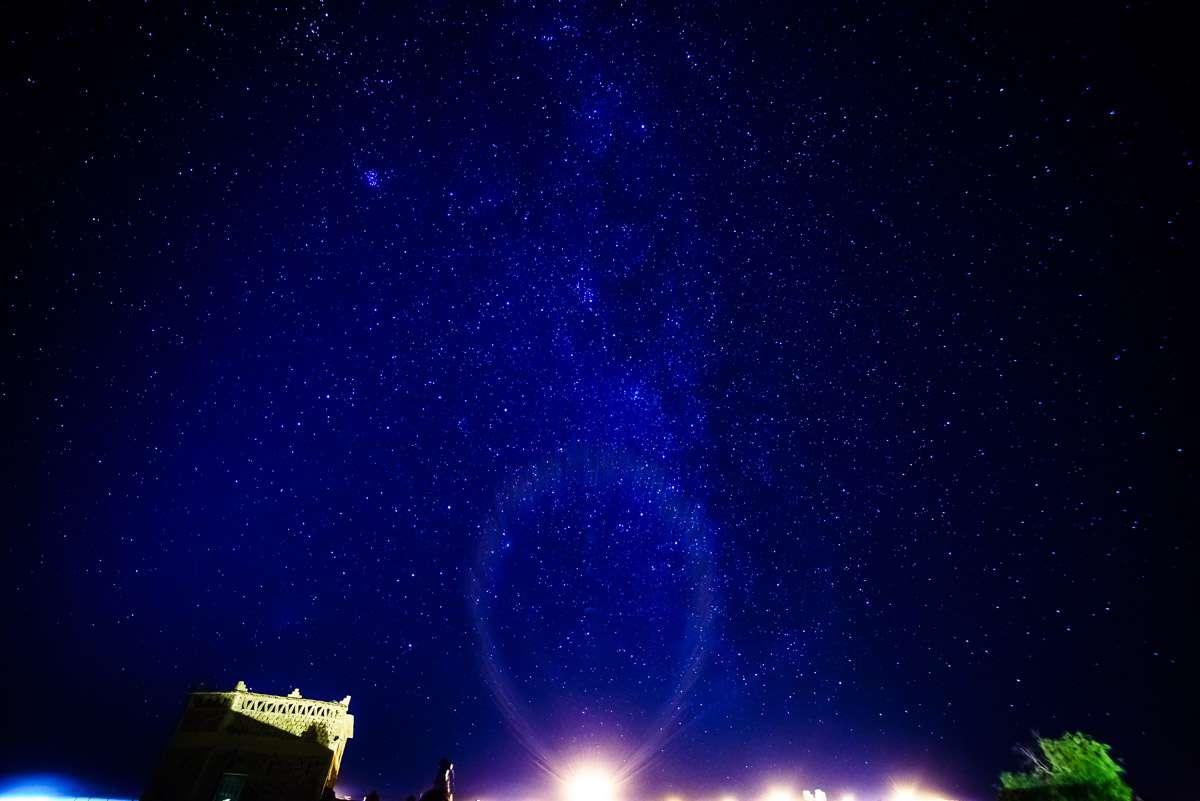 Sternenhimmel über der Sahara
