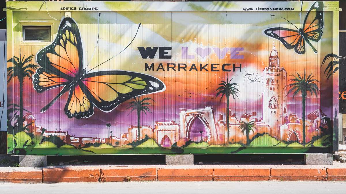 Street Art in der Neustadt Marrakeschs