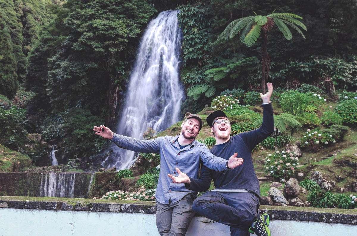 Wasserfälle machen glücklich.