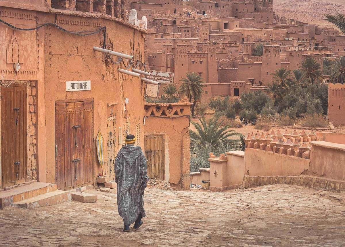 Auf dem Weg zur Kasbah Stadt Aït-Ben-Haddou