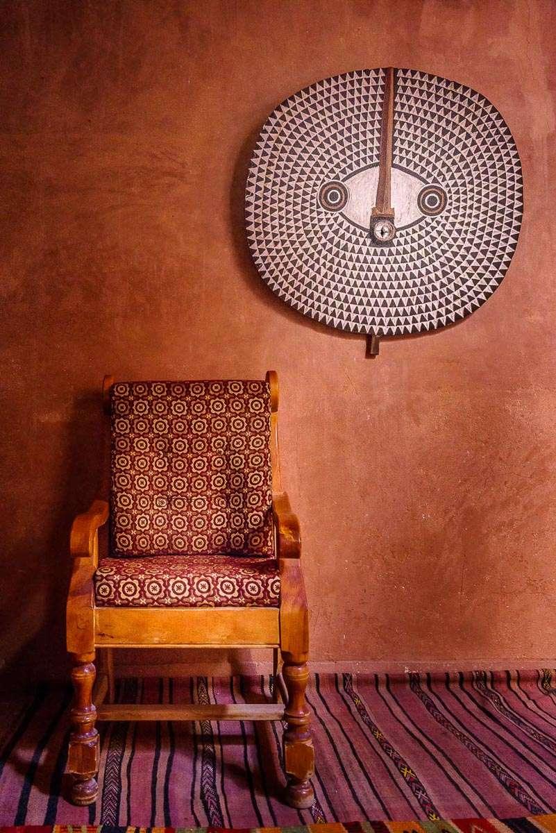 Geschmackvolle Kunst in der Kasbah Tombouctou