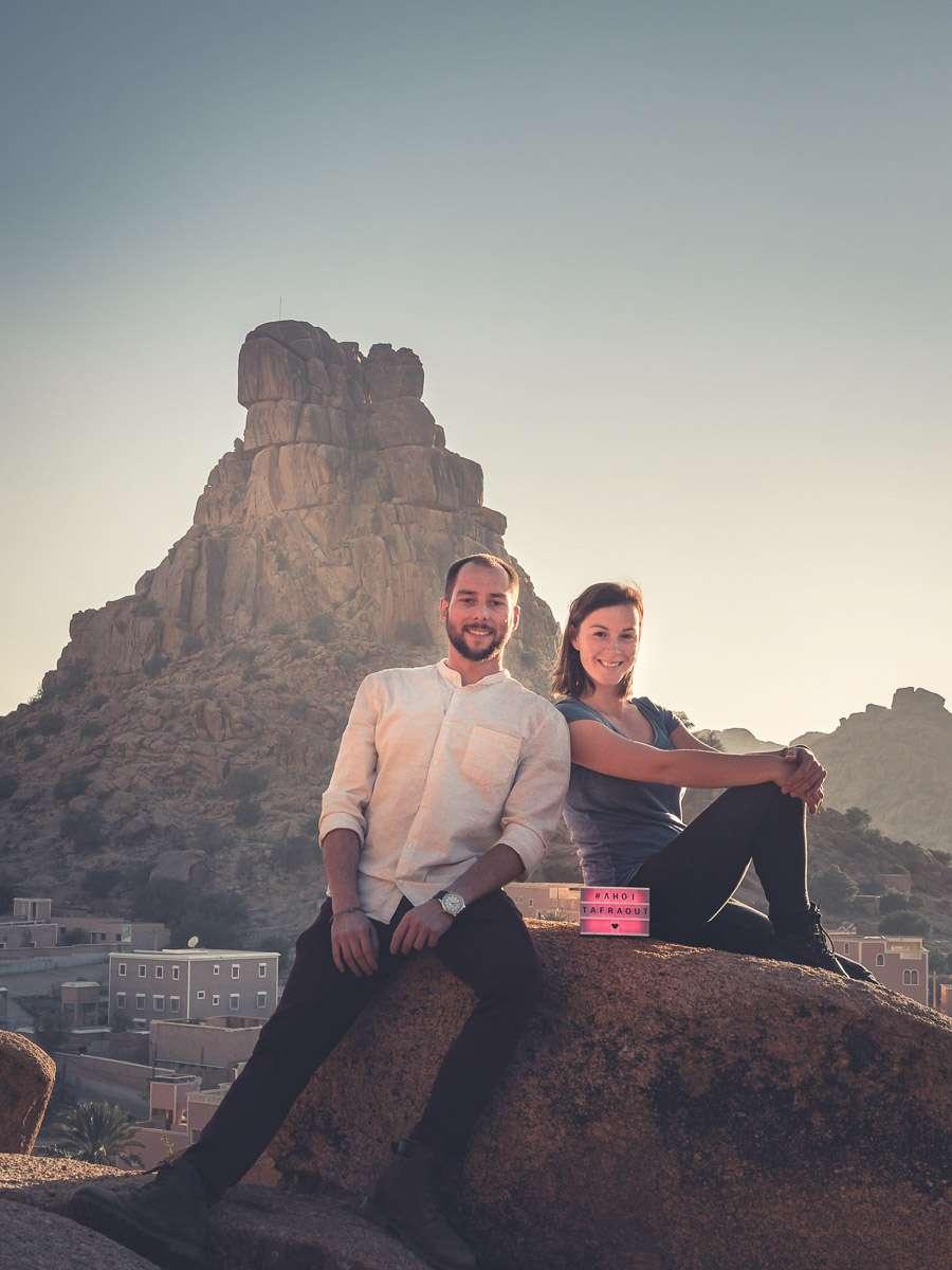 Tafraoute wandern am Napoleonshut in Marokko