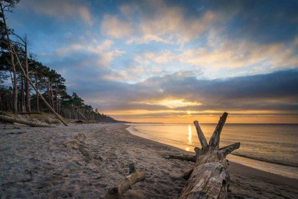 Sonnenuntergang am Weststrand Darss