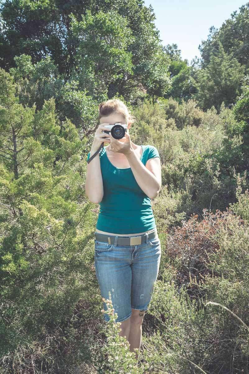 Leider haben wir kein Bild von der Aktion, aber so tief stand Elli ca. in der Botanik.