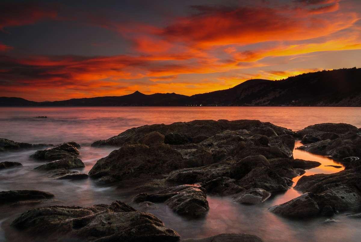 Der Himmel wurde immer intensiver. - Auf Euböa am Kalogeri Beach