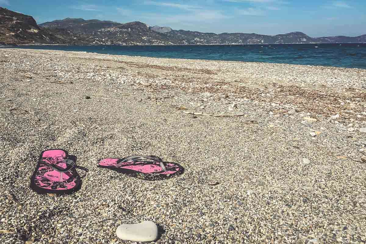 Ein wenig Strandurlaub auf Euboea muss auch mal sein.