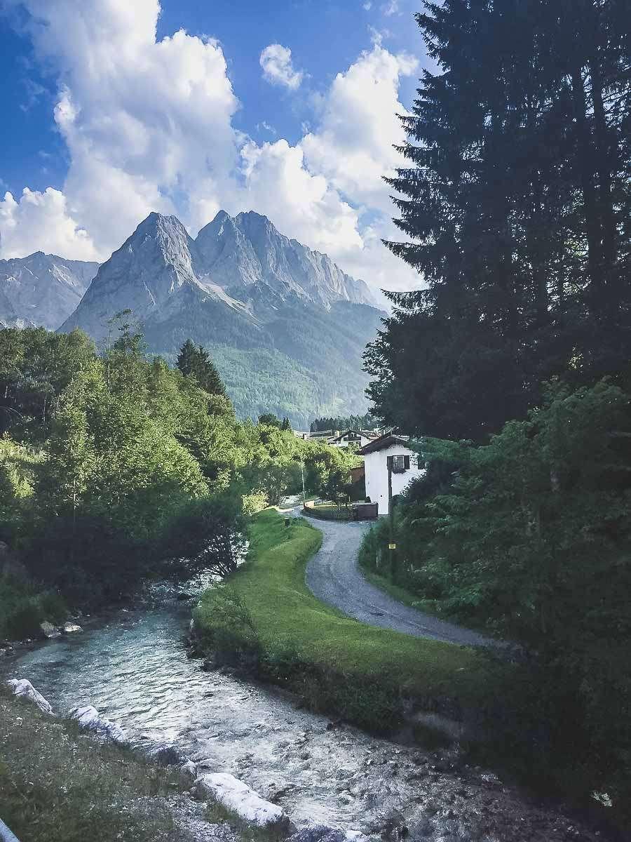 Zugspitze - Der Weg zum Campingplatz