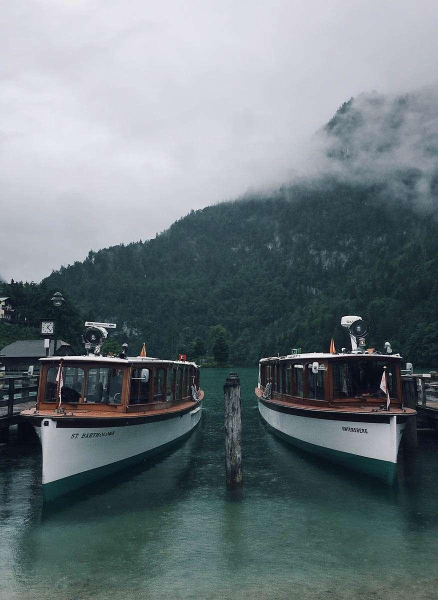 Boote in Schönau am Königsee