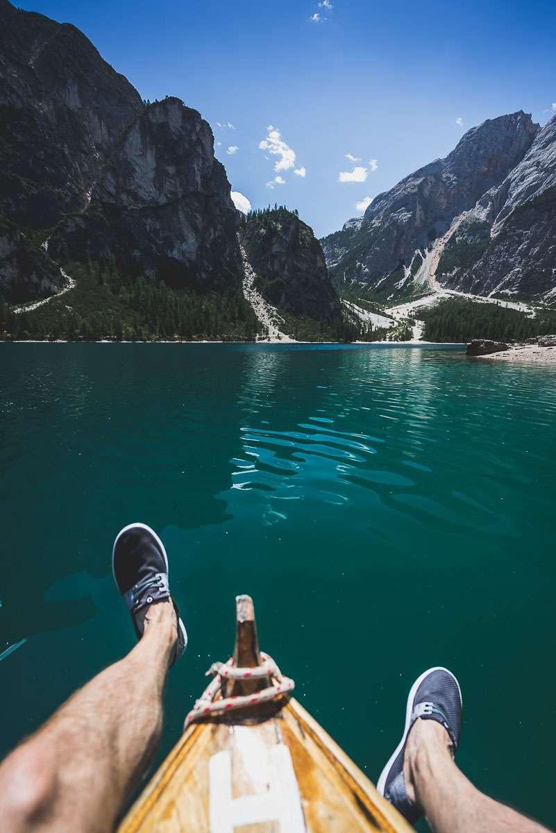 Boot am Pragster Wildsee