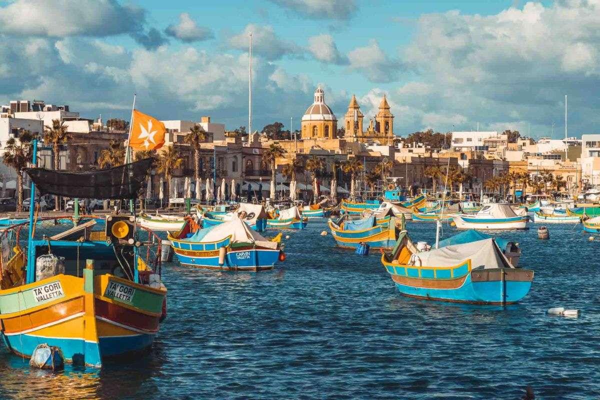 Hafen Marsaxlokk Malta