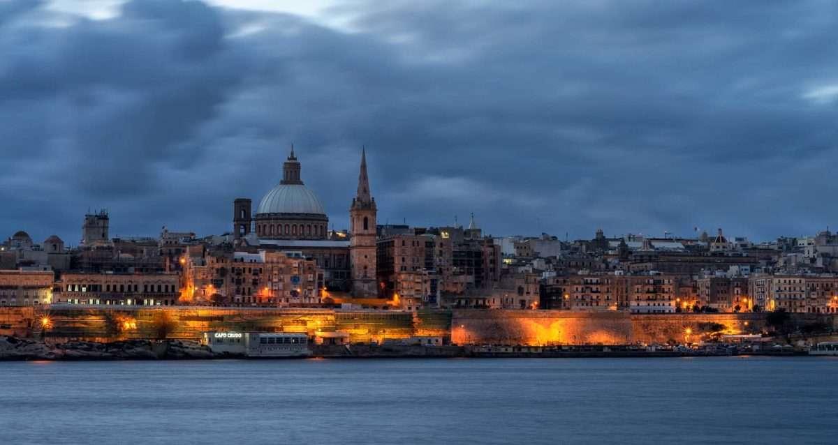 Valletta-Malta blaue Stunde